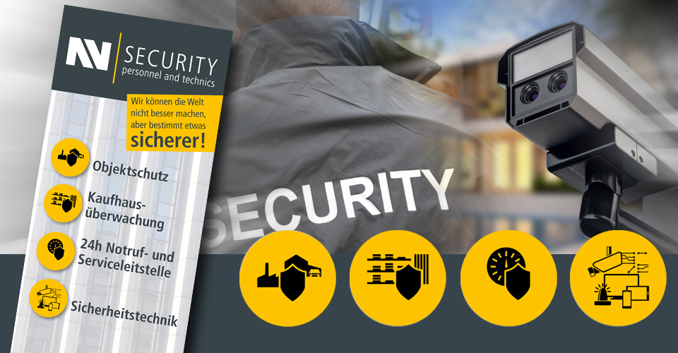 Banner und Bildmontage NN Security