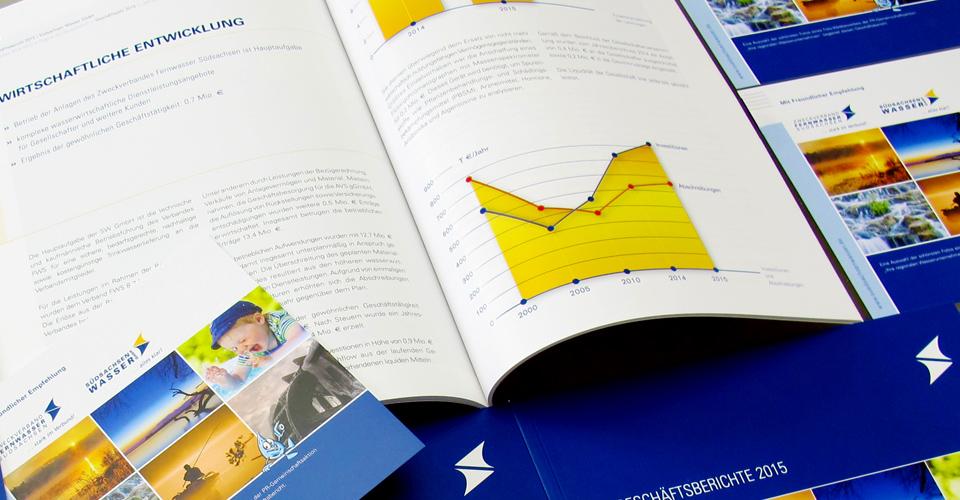 Layout und Design eines Geschäftsberichts