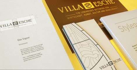 Corporate Design anfertigen lassen - Villa Esche