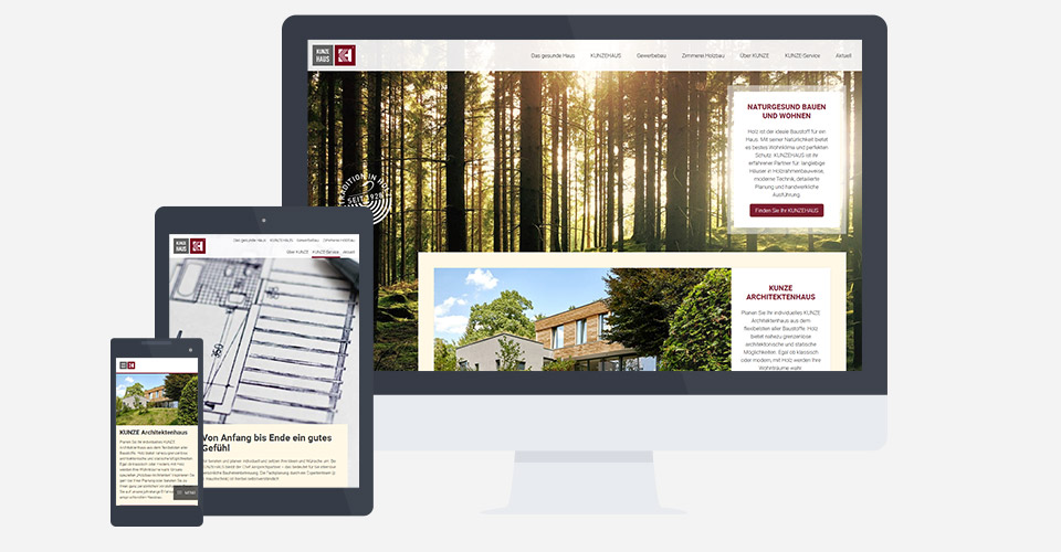 Moderne Webseite mit Responsive Design