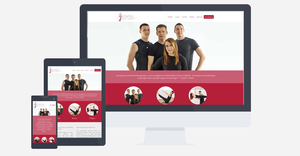 Webseite des Pilates Zentrum Chemnitz