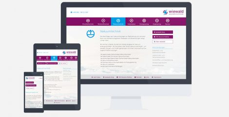 moderne Webseite mit Responsive Webdesign