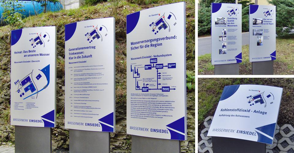 Gestaltung einer Werbetafel in Chemnitz