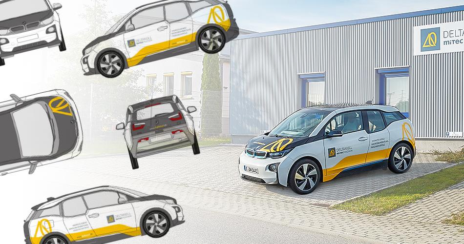 Fahrzeugwerbung, Fahrzeugbeklebung, Außendesign von Firmenfahrzeugen