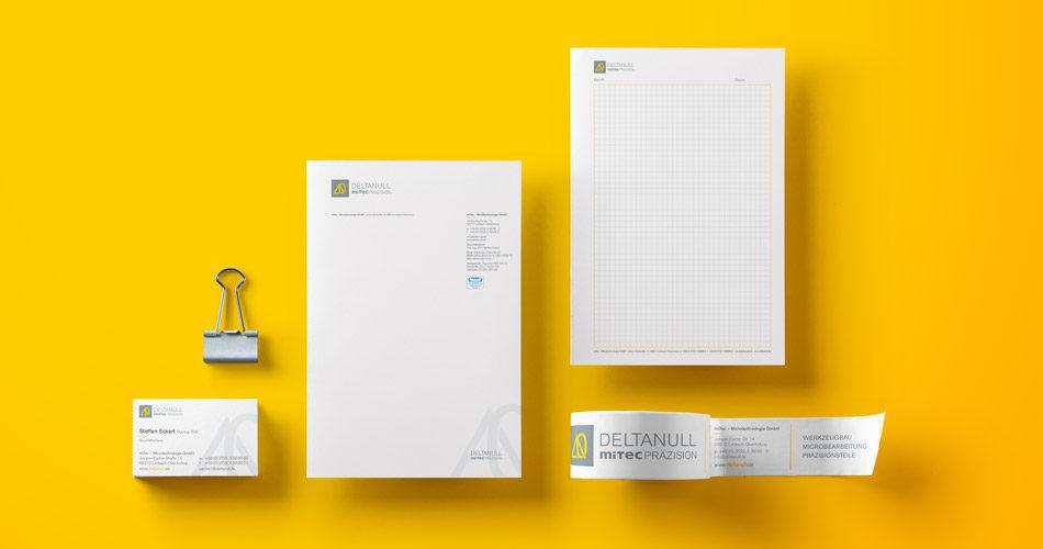 Corporate Design und Corporate Idendity umgesetzt in der Geschäftsausstattung