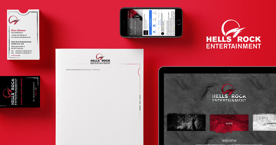 Corporate Design & Marketingstrategieentwicklung für Hells Rock Entertainment