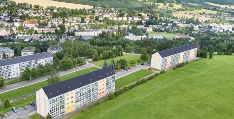 Luftbild WG GLÜCK AUF mit modernster Drohnentechnik