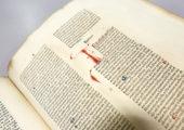 Buchdurck mit beweglichen Lettern