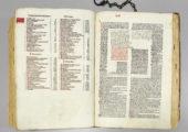 Altes Buch Consilia restaurierungsbedürftig