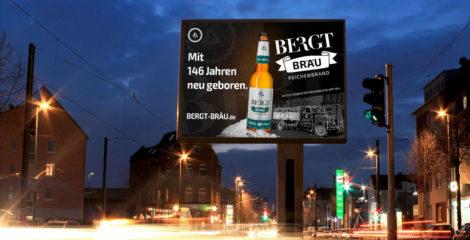 Gestaltung digitale Außenwerbung BERGT BRÄU