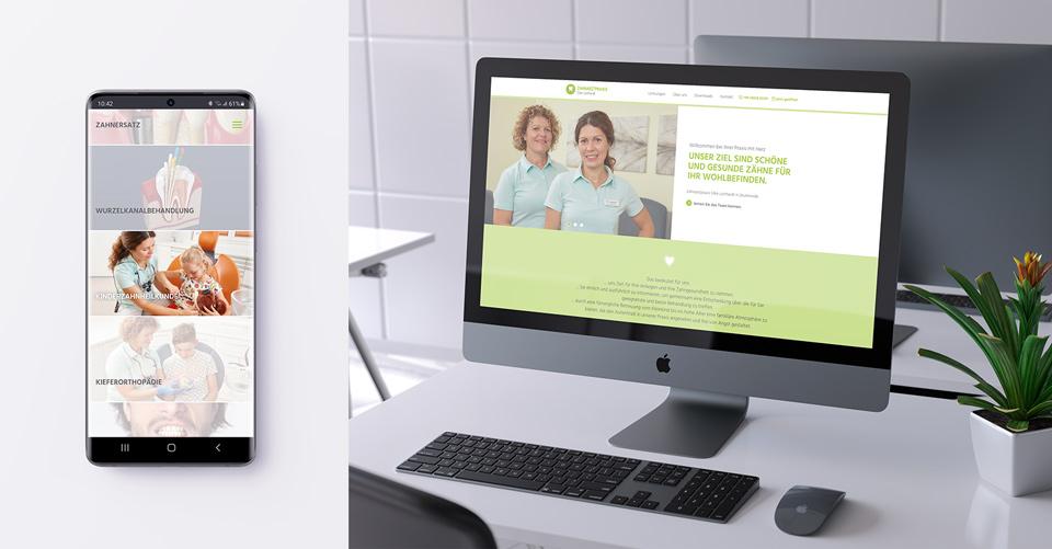 Website Zahnarztpraxis Silke Lotthardt - responsive Websiteprogrammierung für möglicht viele Endgeräte